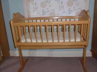 Mamas and Papas Pine swing crib .