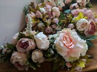 7 Bespoke Peonie & Rose Wedding Centre Pieces