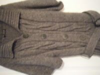 grey cardigan Size 10/12
