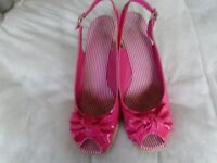 Sling back, wedge sandals size 8