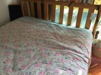used wood frame double bed