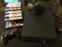 Ps4, 6 games, 1 controller, Bluetooth headset all in mint condition.