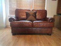 John Lewis Tetrad Cordoba Brown Leather 2 Seater Sofa DELIVERY