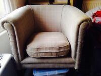 Comfy tweed armchair