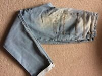 ASOS brand new mens bright blue jeans size 32/32