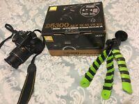 Nikon D5300 with 18-55 kit lens nearly new