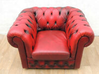 Chesterfield leather chair (Delivery)
