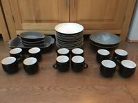 Good as New Denby Crockery - Jet Black Collection & White Collection