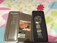 New Chrysler Jeep Watch - Unwanted Gift, Boxed & Never Used - £20