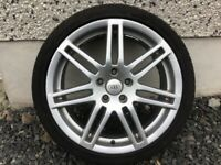 18INCH 5/112 RS4 ALLOY WHEELS WITH TYRES FIT AUDI VW SEAT SKODA ETC