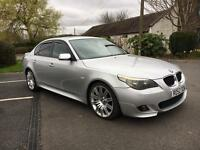 "Bmw 530d M Sport 2005 05 / Sunroof / Electric Leather Seats / FSH / 19"" Spider Alloys +++"