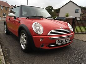 * MINI COOPER 2006 * CHILLI RED * LOW MILES * STUNNING LITTLE CAR * SERVICE HISTORY AND 1 YEAR MOT *