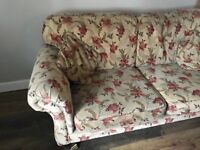 Handmade Floral Sofa - free for collection