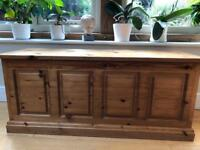 Large Pine Box Trunk - Great Storage or TV Stand Unit