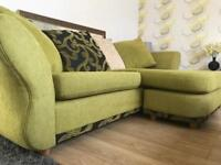 Gorgeous fabric corner sofa - can deliver too