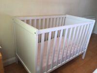 Ikea Sundvik Baby Cot and Mattress