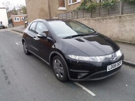Honda civic(2008)reg.5dr.Long MOT.full service history. Very low tax and insurance