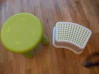 CHILDS IKEA MAMMUT STOOL & ANTI SLIP FOOT STOOL