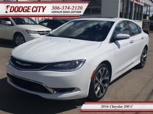 2016 Chrysler 200 C | FWD - Heated Leather, Sunroof, Bluetooth