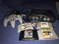 Nintendo 64 n64 console & 4 games