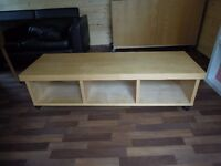 CHEAP Long Birch Coffee Table £35 ono PRICE NEGOTIABLE