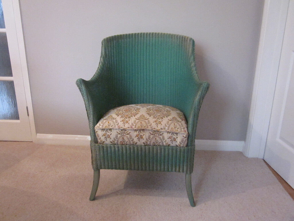 Lloyd Loom Chair Refurbished And Re Upholstered In Chatham Kent