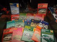34 CLASSIC CAR MANUALS .1960s TO 9-s . CORTINA . IMP . CAPRI MK1 . TRANSIT . JAG . ESCORT