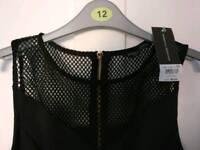 Size 12 Dorothy Perkins black mesh dress