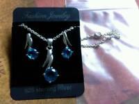 New silver 925 jewellery set