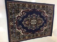 Element deep blue rug