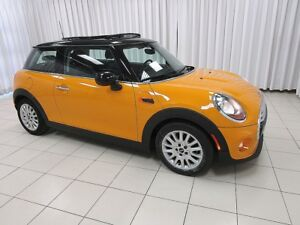 2015 MINI Cooper 3 DOOR TURBO 6 SPEED w/ HEATED SEATS, DUAL MOON
