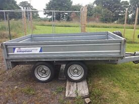 Indespension 8 by 4 flatbed trailer 2.5 ton load