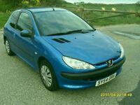 Diesel Peugeot 206..1.4cc Hdi..2004..Blue..£20 Tax Year..Long Mot