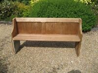 VICTORIAN CHURCH PEW. More available , various sizes also chapel chairs. DELIVERY POSSIBLE.