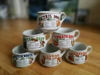 Vintage Soup Mug Set