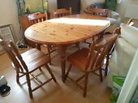 6 Seater Pine Table