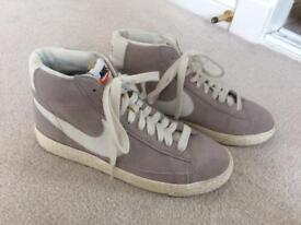 Nike Ladies pale grey high top trainers