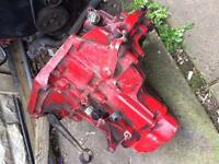 106 gti/Saxo vts/-gearbox in red