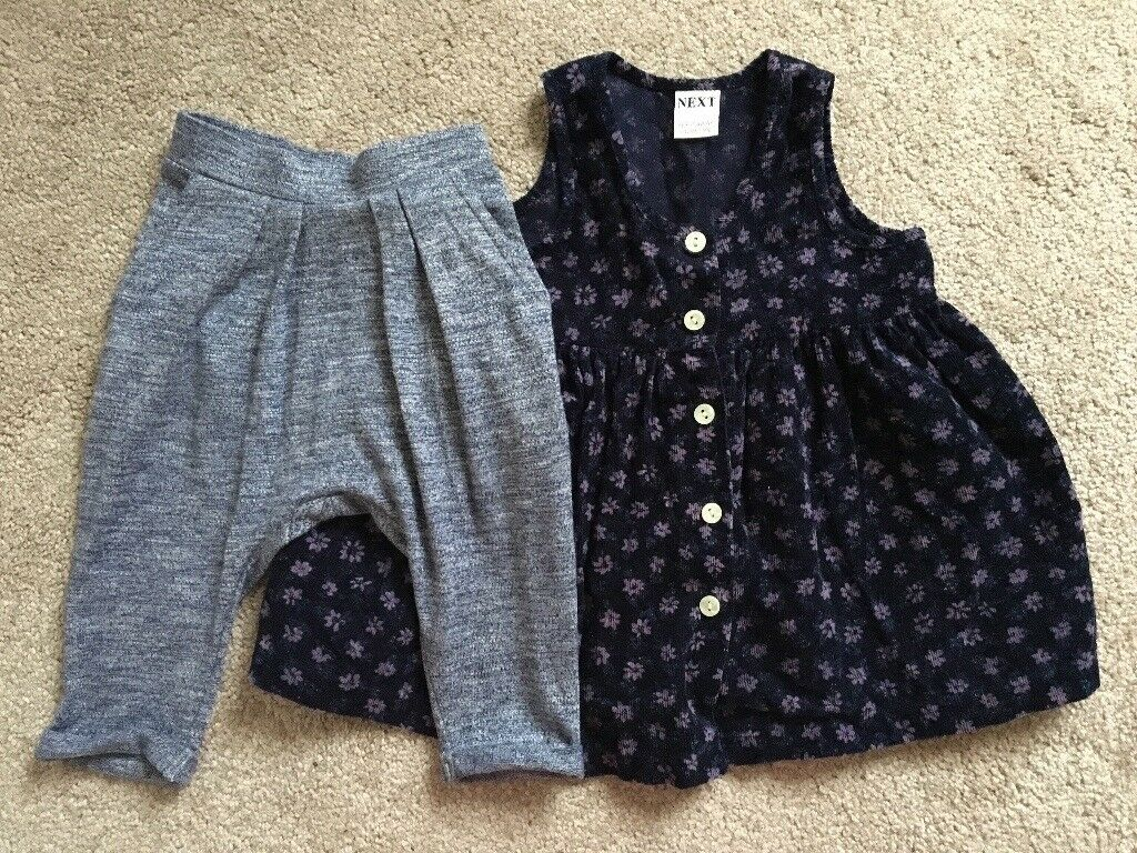 6-9 month Next baby dress and joggers