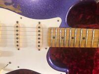 Fender Custom Shop '57 Reissue Stratocaster Heavy Relic 2017 Purple Sparkle