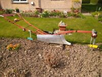 horse plough garden ornament