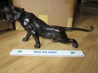 REDUCED Genuine Superb Japanese Meiji Bronze Tiger Statue Okimono c1900