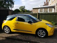 2012 CITROEN DS3 DSTYLE AUTO SALVAGE DAMAGED REPAIRABLE 1.6 AUTOMATIC SPARES OR REPAIRS YELLOW 3dr