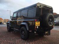 *** landrover defender 110 fully rebuilt galvanised chassis swap px car van ***