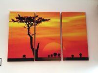 Africa scene canvas