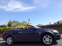 SUMMER FUN! (2009) RENAULT MEGANE 1.6 DYNAMIQUE S CABRIOLET PAN ROOF LEATHER ONLY 65K MILES 9 STAMPS