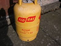 7KG Flo-gas Patio empty gas bottle, - on-line deposit £30.62