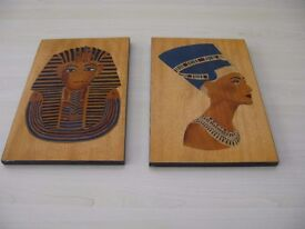 Two Marquetry Pictures