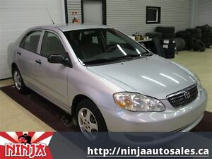 2005 Toyota Corolla CE Manual Safetied Winter Tires