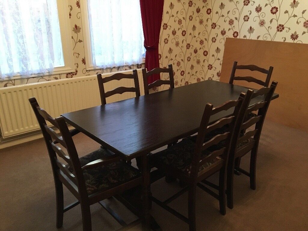 Dining Table With 6 Chairs For Sale Image 1 Of 2